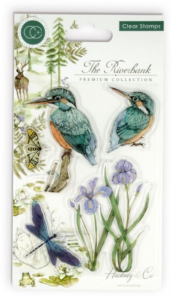 Craft Consortium Clear Stamps The Riverbank - Kingfisher